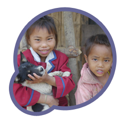 Picture of children from Laos project