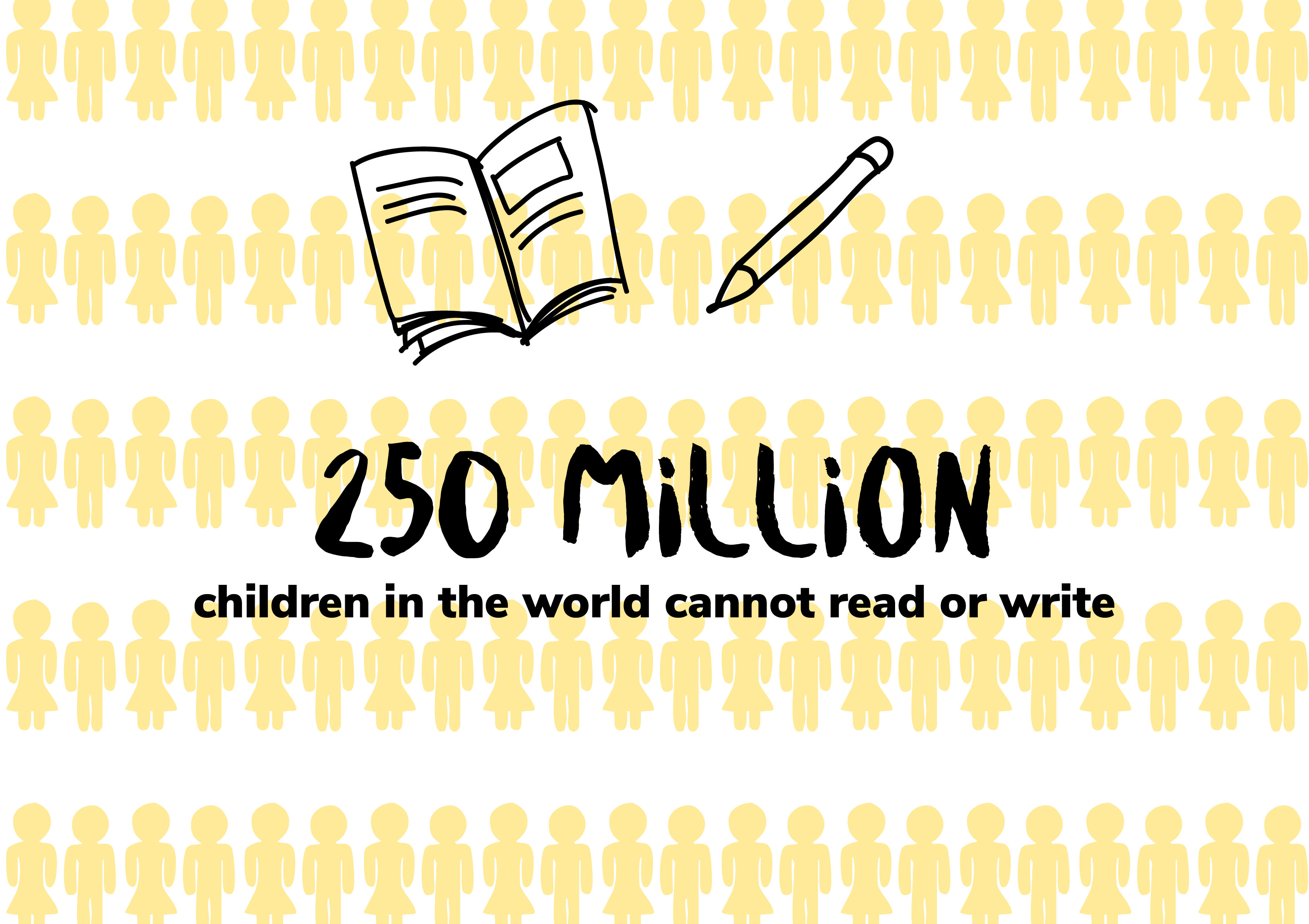 250 million children in the world cannot read or write
